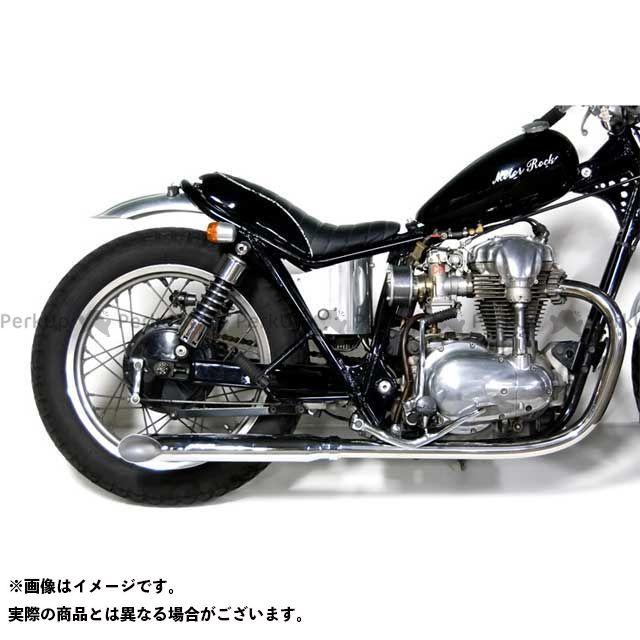 【無料雑誌付き】モーターロック W400 W650 W650/400用 ターンアウトマフラー フルエキゾースト タイプ:LOW Motor Rock