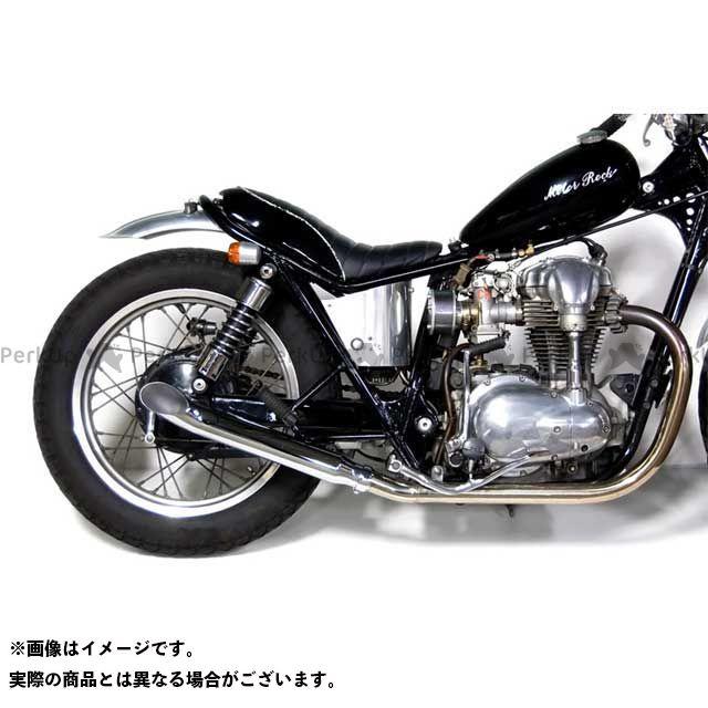 【無料雑誌付き】モーターロック W400 W650 W650/400用 ターンアウトマフラー フルエキゾースト タイプ:MID Motor Rock