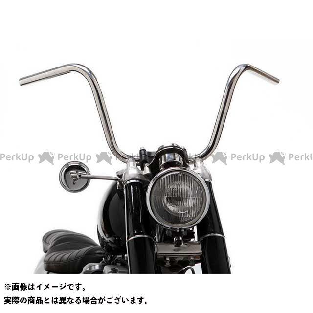 【無料雑誌付き】モーターロック 汎用 69バー ショートチョッパースタイル 7/8インチ カラー:ブラック Motor Rock