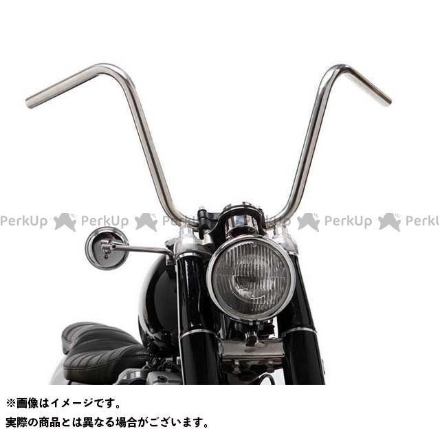 【無料雑誌付き】モーターロック 汎用 69バー チョッパースタイル 1インチ 仕様:ディンプル付き カラー:ヘアライン Motor Rock
