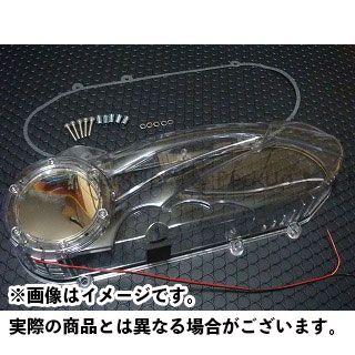 KN企画 ビーウィズ125 ビーウィズ125X シグナスX クランクケースカバー カラー:クリアー/レッド ケイエヌキカク