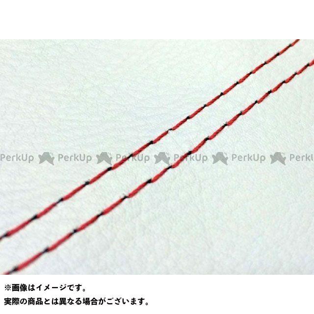 【エントリーで最大P23倍】グロンドマン バリオス バリオス(ZR250A) 国産シートカバー 白 タイプ:張替 仕様:赤ダブルステッチ Grondement