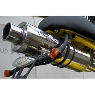 送料無料 Rスタイル スパイダー125 マフラー本体 SACHS SPIDER 125 Real Python Muffler ステンレス・ミラーフィニッシュ