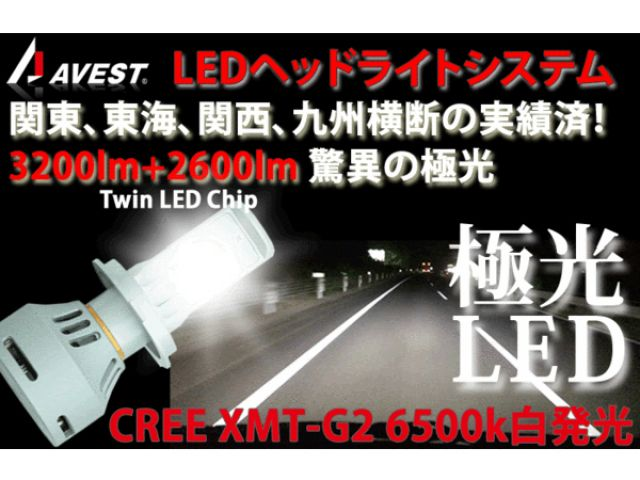 アベスト ビューエル汎用 ヘッドライト・バルブ ビューエル汎用 CREE H4ハイローHIDではないLEDライトバルブ