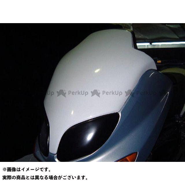 弥生 TMAX500 フロントマスク1 シルバーカーボン