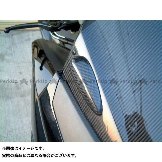 弥生 TMAX500 ミラーホールカバー 素材:シルバーカーボン ヤヨイ