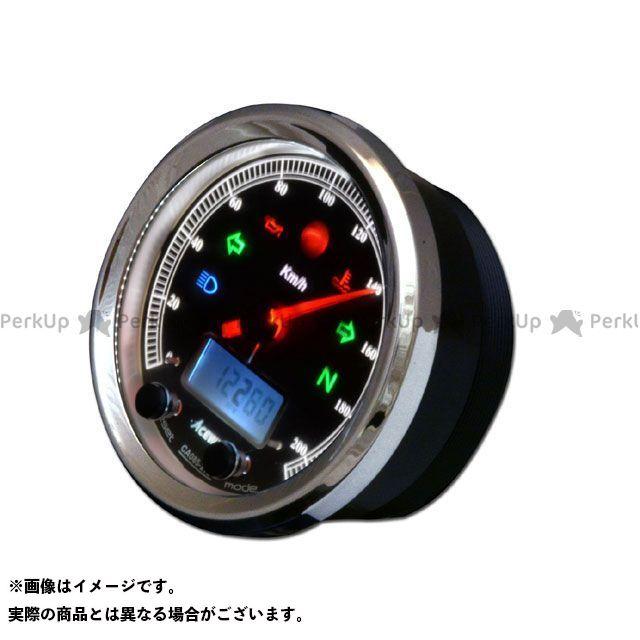 エースウェル 汎用 CA085-262 多機能デジタルメーター 260Km/H カラー:ブラックパネル ACE WELL