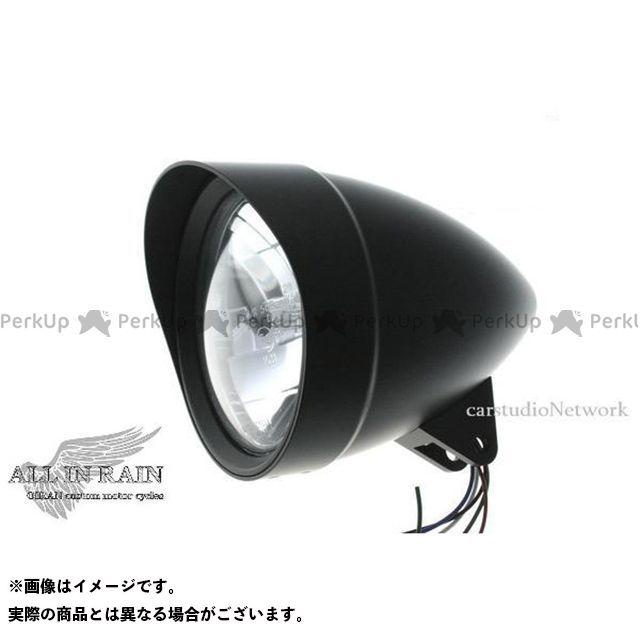オールインレイン 汎用 アウトローヘッドライト ベーシック カラー:ブラック ALLINRAIN