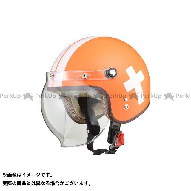 リード工業 NOVIA バブルシールド付ジェットヘルメット レディース CROS オレンジ LEAD工業