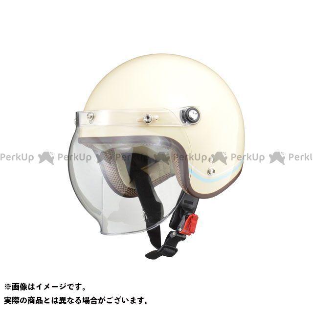 リード工業 NOVIA バブルシールド付ジェットヘルメット レディース LINE アイボリー LEAD工業