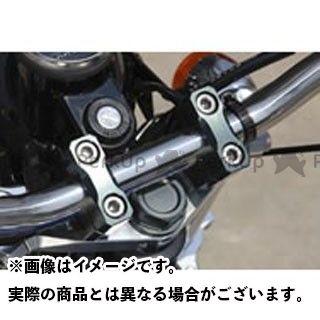 シフトアップ SHIFTUP トップブリッジ関連パーツ ハンドル 無料雑誌付き クランプセット エイプ50 高級な カラー:シルバー ビレットトップブリッジ エイプ100 至上