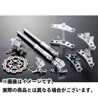 【エントリーで更にP5倍】シフトアップ モンキー ワイド208mm ステムφ27mm フォークキット(4pods/220mm/ディスクブレーキ仕様):バーハンドル対応クランプ付 カラー:ガンメタ SHIFTUP