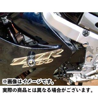 R&G ZZR1100 ZZR1200 クラッシュプロテクター カラー:ブラック アールアンドジー