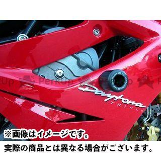 【エントリーで最大P23倍】R&G デイトナ675 クラッシュプロテクター カラー:ホワイト アールアンドジー