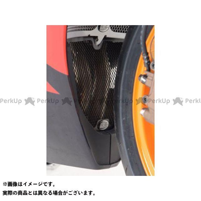 【エントリーで最大P23倍】R&G CBR600RR ダウンパイプグリル カラー:ブラック アールアンドジー