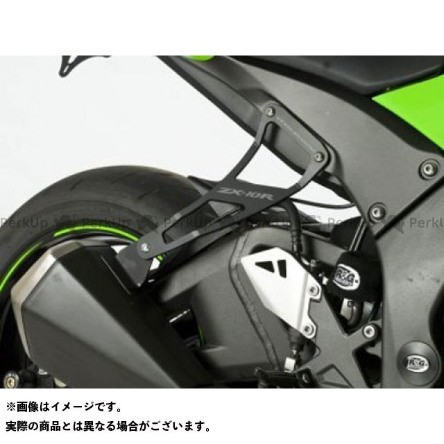 送料無料 R&G ニンジャZX-10R その他マフラーパーツ エキゾーストハンガー(ブラック) リアフットプレート付属