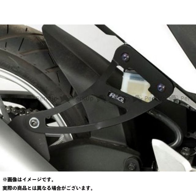 R&G CBR250R エキゾーストハンガー(ブラック) リアフットプレート付属 アールアンドジー