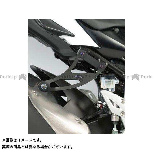 R&G GSR750 エキゾーストハンガー(ブラック) リアフットプレート付属 アールアンドジー