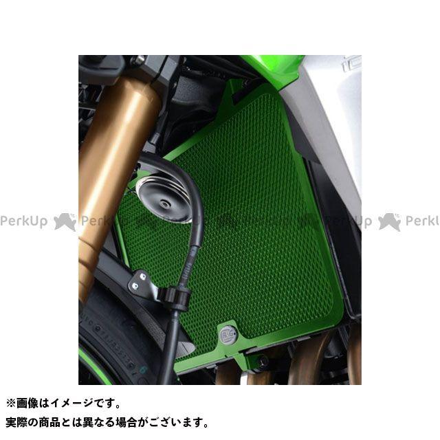 送料無料 R&G ニンジャZX-6R ラジエター関連パーツ ラジエーターガード グリーン