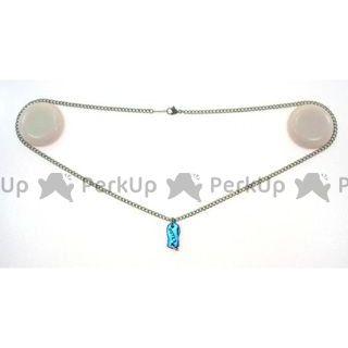 アウテックス OUTEX チタンネックレス 喜平 幅2.9(シルバーカラー/プレートT2エメラルドブルー) 46cm