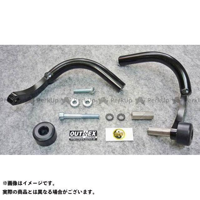 【無料雑誌付き】アウテックス 汎用 振動吸収レバーガード タイプ:ベントタイプ サイズ:内径16.2mm~18.6mm カラー:ブラック OUTEX