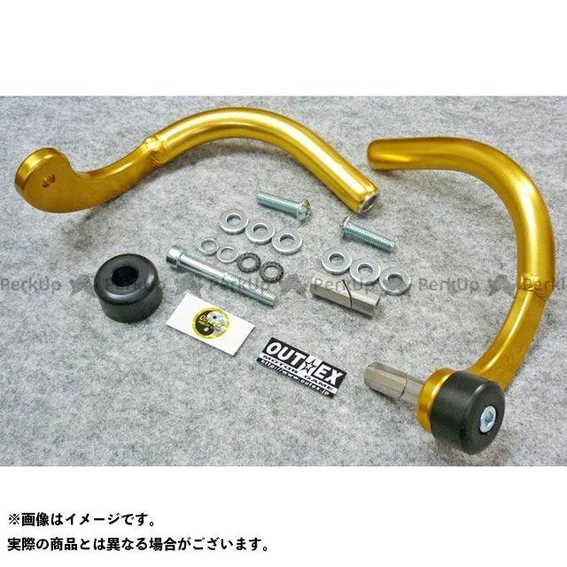 アウテックス 汎用 振動吸収レバーガード タイプ:削り出しタイプ サイズ:内径16.2mm~18.6mm カラー:ゴールド OUTEX