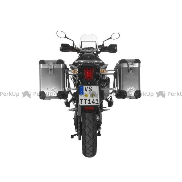 ツアラテック TOURATECH ZEGA-PRO2 アルミニウムパニアシステム 31+38L Triumph Tiger 800/800XC(シルバーフレーム)