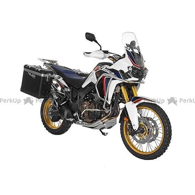 ツアラテック TOURATECH ZEGA pro2 『アルマイトブラック』 【31L+38L】 アルミパニアシステム Honda CRF1000L Africa Twin 【ブラックフレーム】