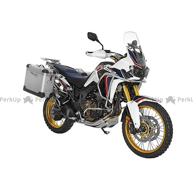 ツアラテック TOURATECH ZEGA pro2 『アルマイトシルバー』 【31L+38L】 アルミパニアシステム Honda CRF1000L Africa Twin 【ブラックフレーム】