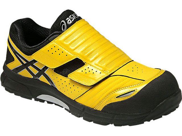 送料無料 ASICS アシックス メカニックシューズ 安全靴 ウィンジョブ CP101 イエロー/ブラック 25.0cm