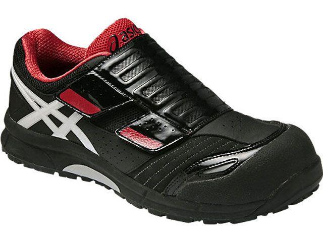 送料無料 ASICS アシックス メカニックシューズ 安全靴 ウィンジョブ CP101 ブラック/ホワイト 24.5cm