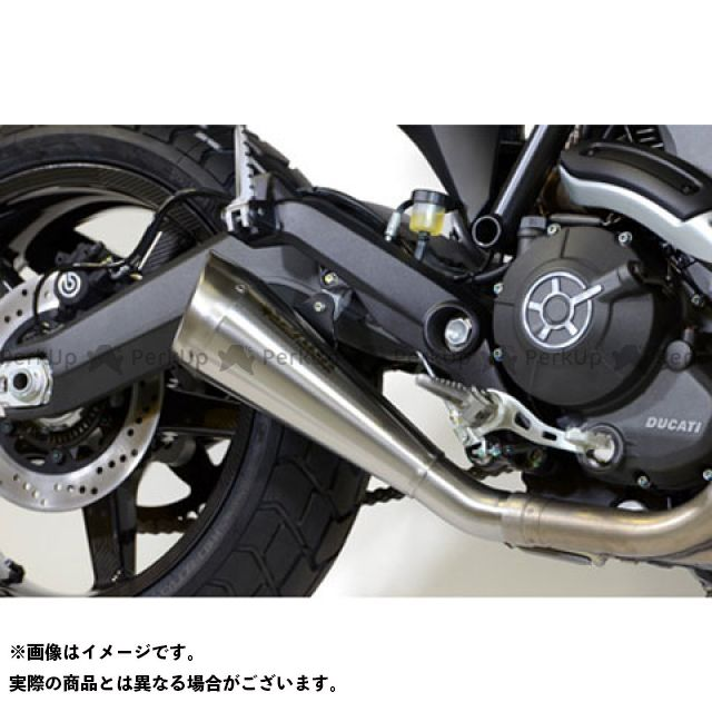 【エントリーで更にP5倍】ブロックス Ducati Scrambler Spark Slip-on System with 60's Muffler(ステンレス) Brocks