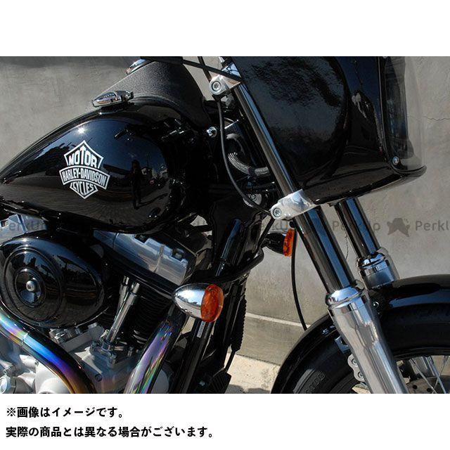 トランプ ダイナファミリー汎用 HDターンシグナルブラケット DYNA 98~05年用 カラー:Black Tramp Cycle