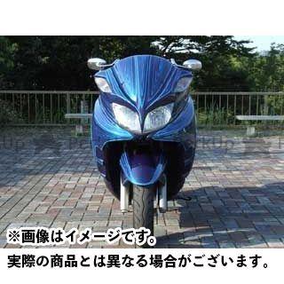 【エントリーで更にP5倍】ウォーリアーズ グランドマジェスティ250 グランドマジェスティ400 エアロフェイスV1 カラー:純正色塗装済/ディープパープリッシュブルーメタリック3(濃ブルー) WARRIORZ