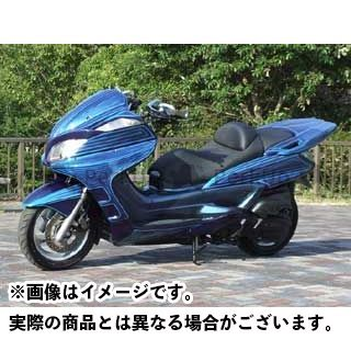 ウォーリアーズ グランドマジェスティ250 グランドマジェスティ400 サイドカウルV1 カラー:塗装なし/黒ゲル WARRIORZ