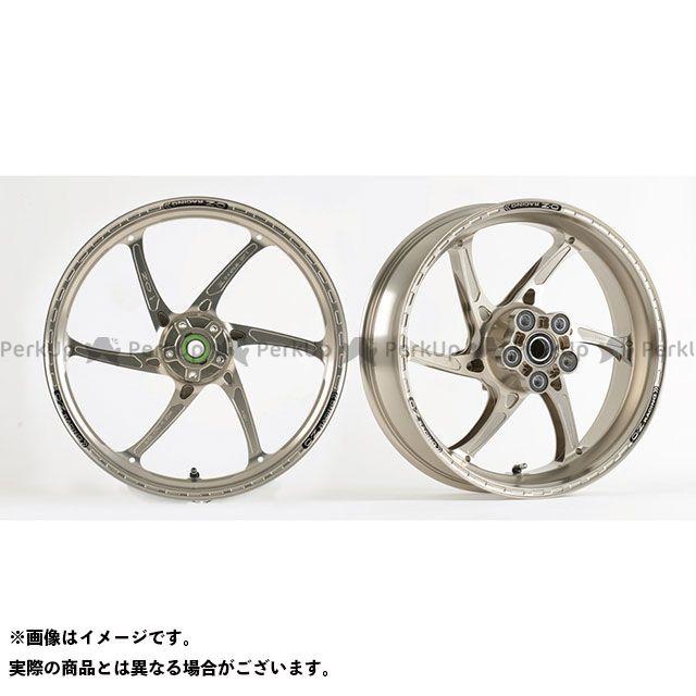 OZレーシング ZRX1200ダエグ ホイール本体 アルミ鍛造 H型6本スポーク ホイール GASS RS-A 前後セット F3.50-17/R5.50-17 チタンアルマイト
