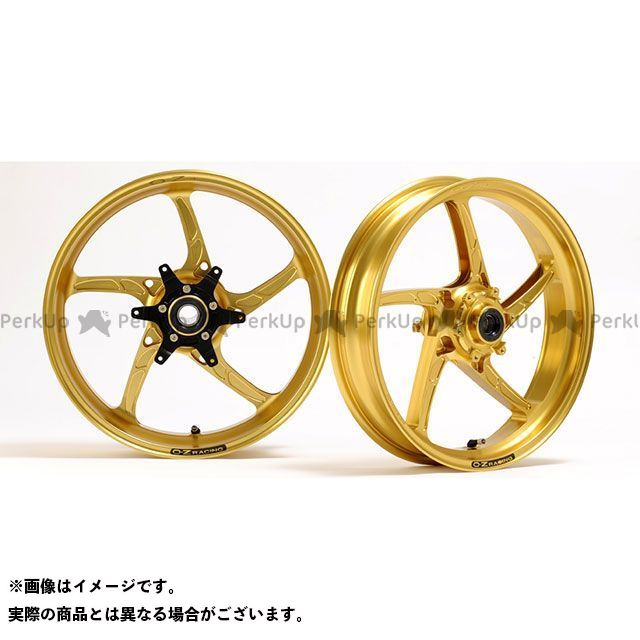 OZレーシング GSX-R750R ホイール本体 アルミ鍛造ホイール OZ-5S PIEGA 前後セット F350-17/R550-17 ゴールドペイント
