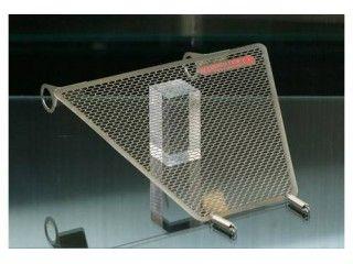 モトコルセ モンスターS4RSテスタストレッタ オイルクーラー関連パーツ TITANIUM PROTECTION SCREEN for OIL COOLER-DUCATI M-S4RS