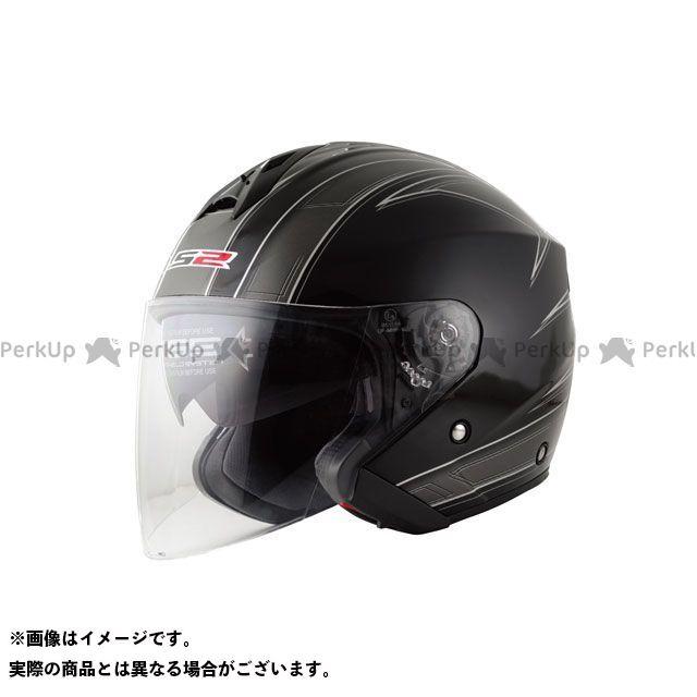 送料無料 LS2 HELMETS エルエスツー ジェットヘルメット LS2 FREEWAY(フリーウェイ) グラフィックモデル エスプリ ブラック L/59-60cm