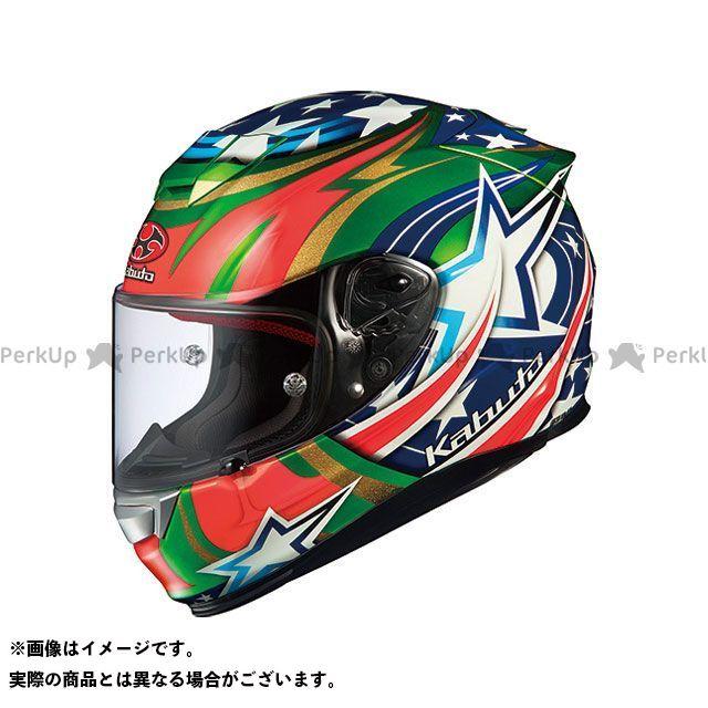 送料無料 OGK KABUTO オージーケーカブト フルフェイスヘルメット RT-33 ACTIVE STAR(アクティブスター) グリーン L