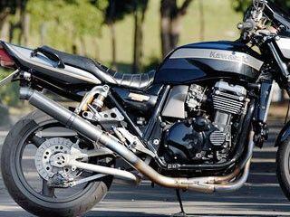 ナイトロレーシング ZRX1100 ZRX1200R マフラー本体 4in1 機械曲げチタンEXマフラー セミUPタイプ ストレイトチタンサイレンサー V-2 φ85/420mm