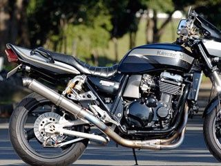 ナイトロレーシング ZRX1100 ZRX1200R マフラー本体 4in1 機械曲げチタンEXマフラー セミUPタイプ ストレイトチタンサイレンサー V-3 φ85/420mm