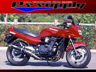 送料無料 ピーズサプライ GPZ1100 マフラー本体 A-MAX 4-1スタイル GPZ1100 カーボン