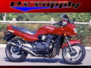 送料無料 ピーズサプライ GPZ1100 マフラー本体 A-MAX 4-1スタイル GPZ1100 チタンオーバル