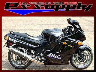 送料無料 ピーズサプライ ZZR1100 マフラー本体 A-MAX 4-1スタイル ZZR1100・C型 RGチタン