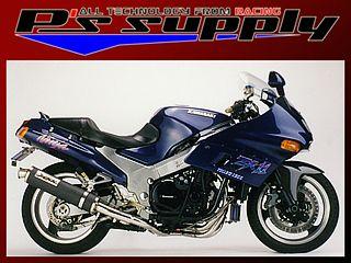 送料無料 ピーズサプライ ZZR1100 マフラー本体 A-MAX 4-2-1スタイル ZZR1100・D型 チタン