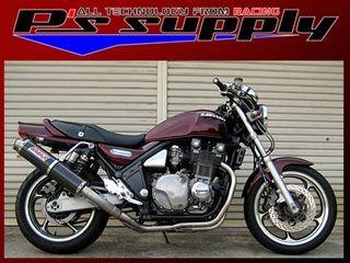 送料無料 ピーズサプライ ゼファー1100 マフラー本体 A-MAX 4-2-1スタイル UPタイプ ZEPHYR1100 カーボン