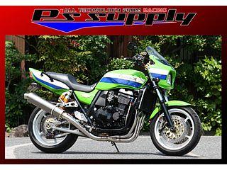 送料無料 ピーズサプライ ZRX1200R マフラー本体 A-MAX 4-1スタイル キャタライザー ZRX1200 チタン