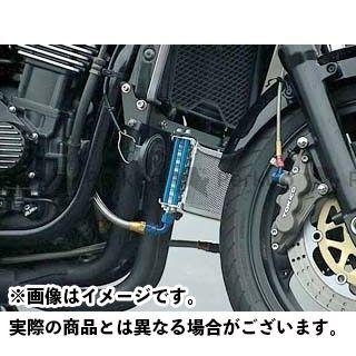 プロト ZRX1100 ZRX1200R ラウンドオイルクーラーキット 9段#6 シルバー PLOT