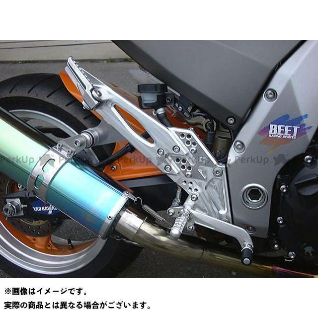 BEET Z1000 バックステップ関連パーツ ハイパーバンク 可倒式(シルバー) 03-06年用